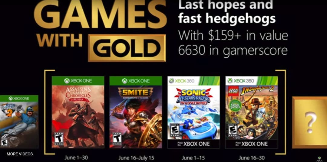 Xbox live gold free games June 2018