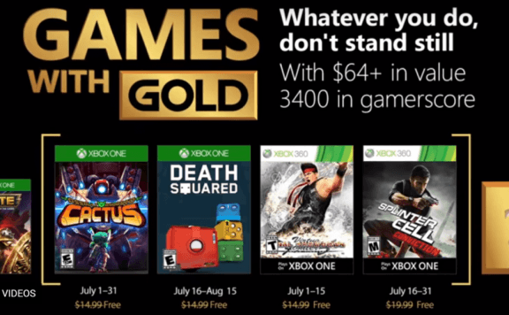 xbox live games with gold july 2018