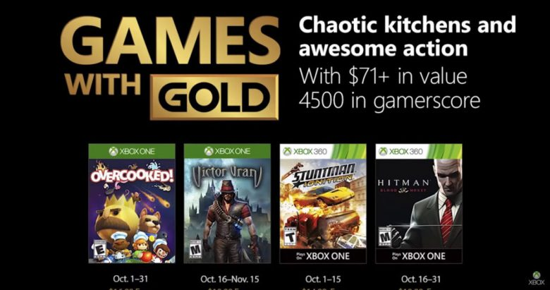 Xbox Games With Gold October 2018