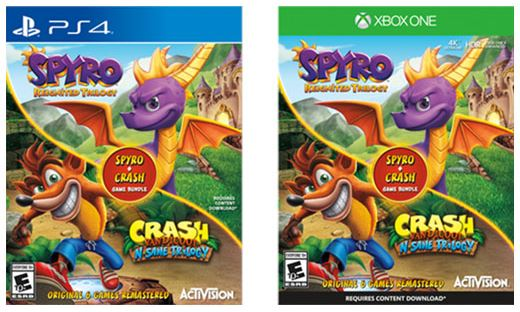 spyro reignited trilogy bundle plus crash