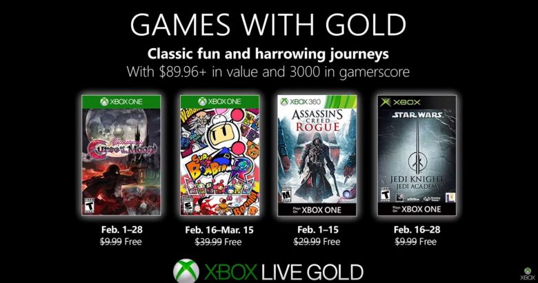 Xbox Games With Gold Feb 2019