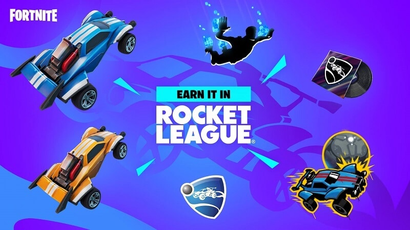 Rocket-League-themed Fortnite items