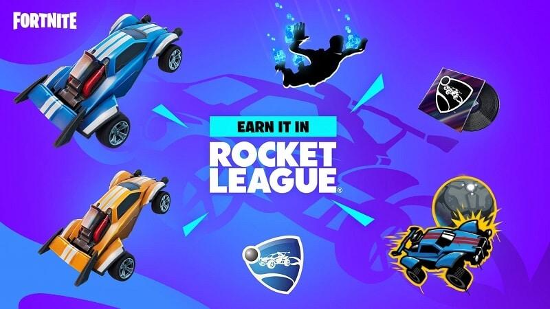 Rocket-League-themed Fortnite items