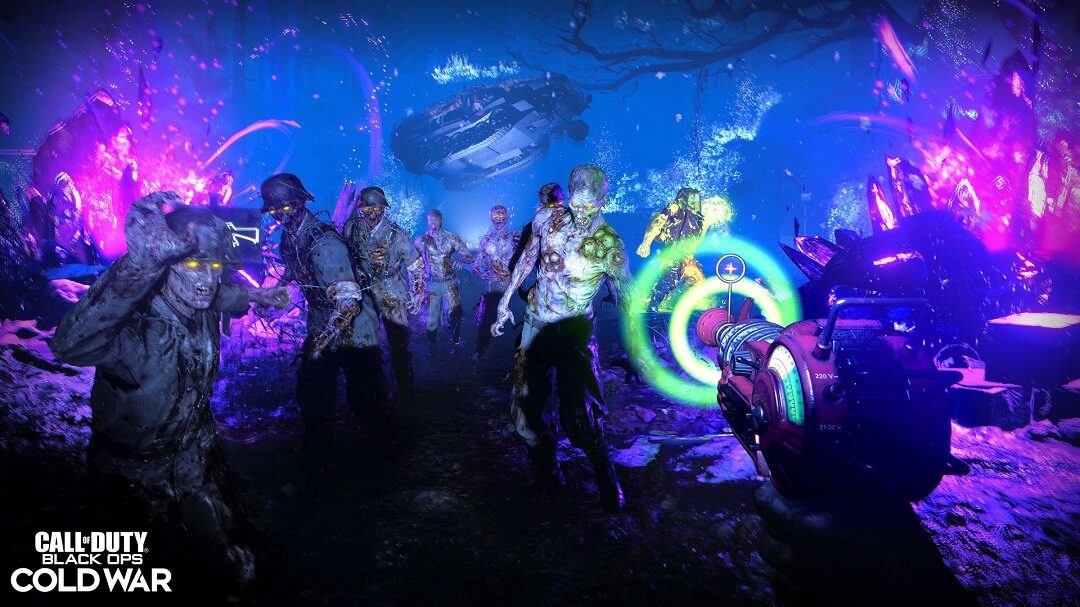 Call of Duty: Black Ops Cold War Zombies with Ray Gun underwater
