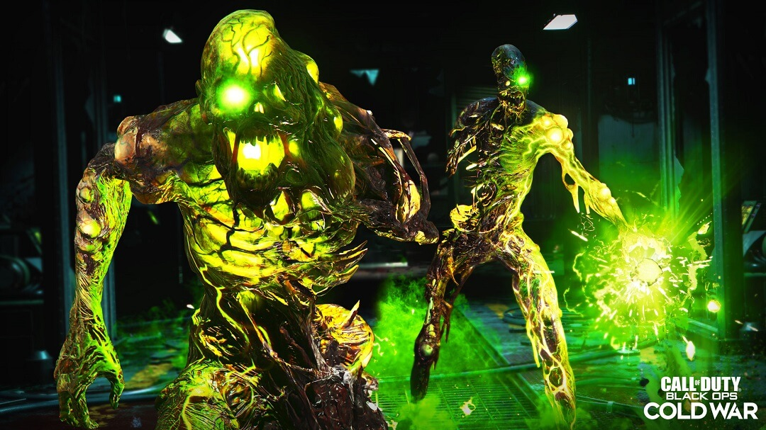 Call of Duty: Black Ops Cold War bright green Zombies