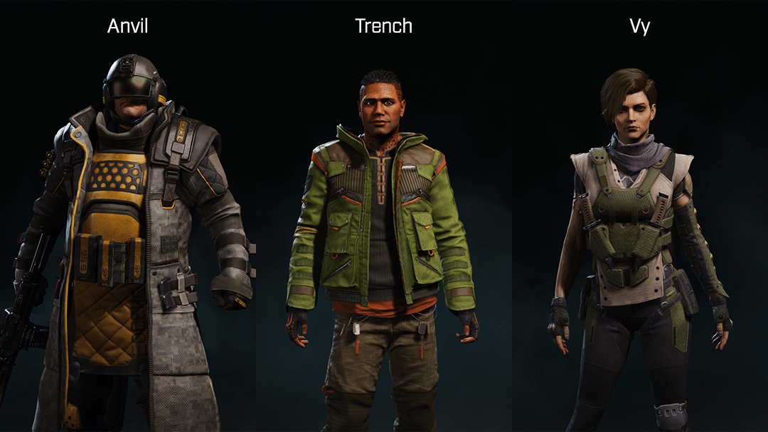 Rogue Company Defender characters