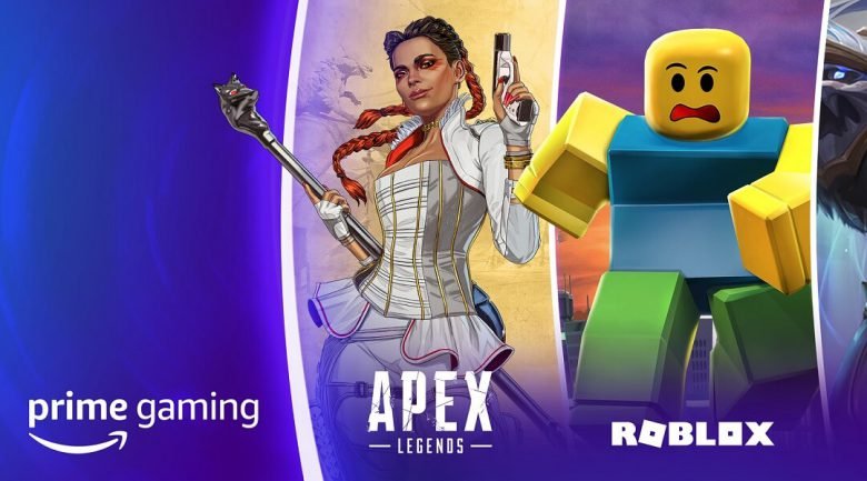 Prime Gaming with Apex Legends character and Roblox character