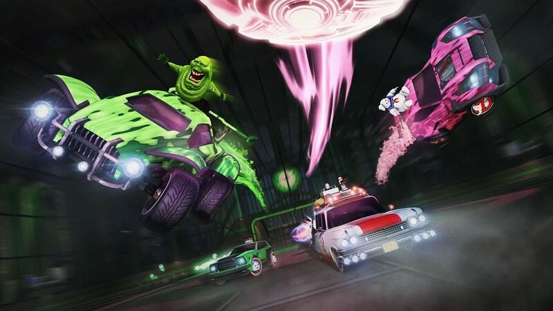 Rocket Leauge Ghostbuster-thtmed cars
