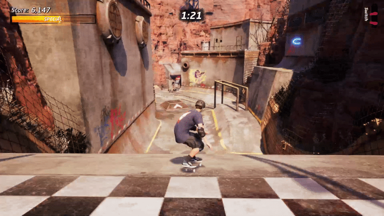 There's a skill point high above the first hill in Downhill Jam