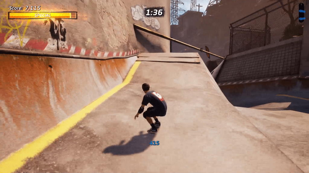 Valve 3 is above the downhill half pipe in Downhill Jam
