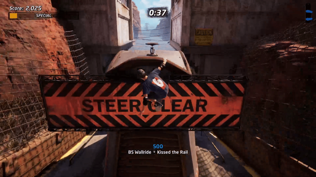 Valve 4 is above the STEER CLEAR obstacle in Downhill Jam