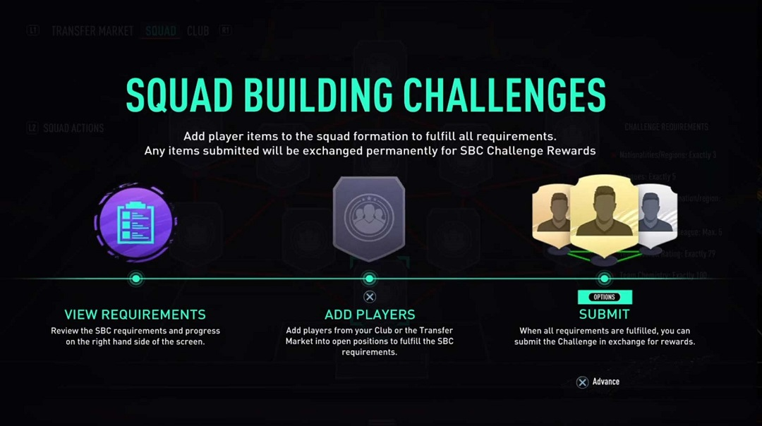 FIFA 12 Squad Building Challenges screenshot