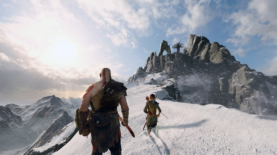 God of War snow mountain