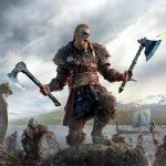 Valhalla character standing with two axes