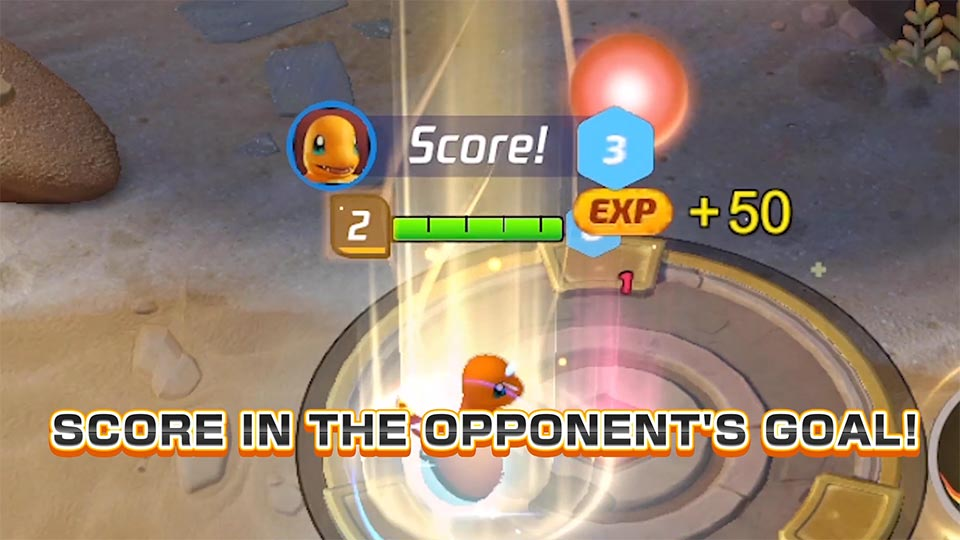 Collect points from catching wild Pokemon and dunk those points into the score zones.